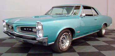 '66 GTO.  Yeah, turquoise.  You got a problem with that?