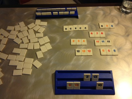 Rummikub and wine